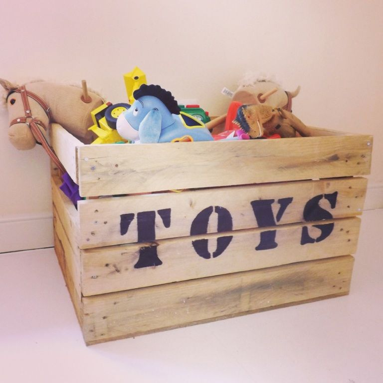 Diy pallet toy box we have so many its just meant to be