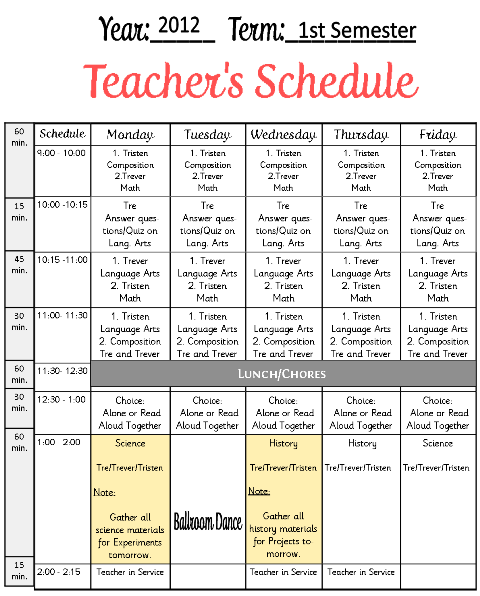 Curriculum Pages for Planner | Homeschool, Master schedule and Teacher