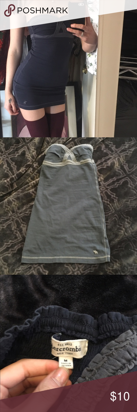 A&F dress Got this as an extra gift on depop and it's too short, perfect condition Abercrombie & Fitch Dresses Mini