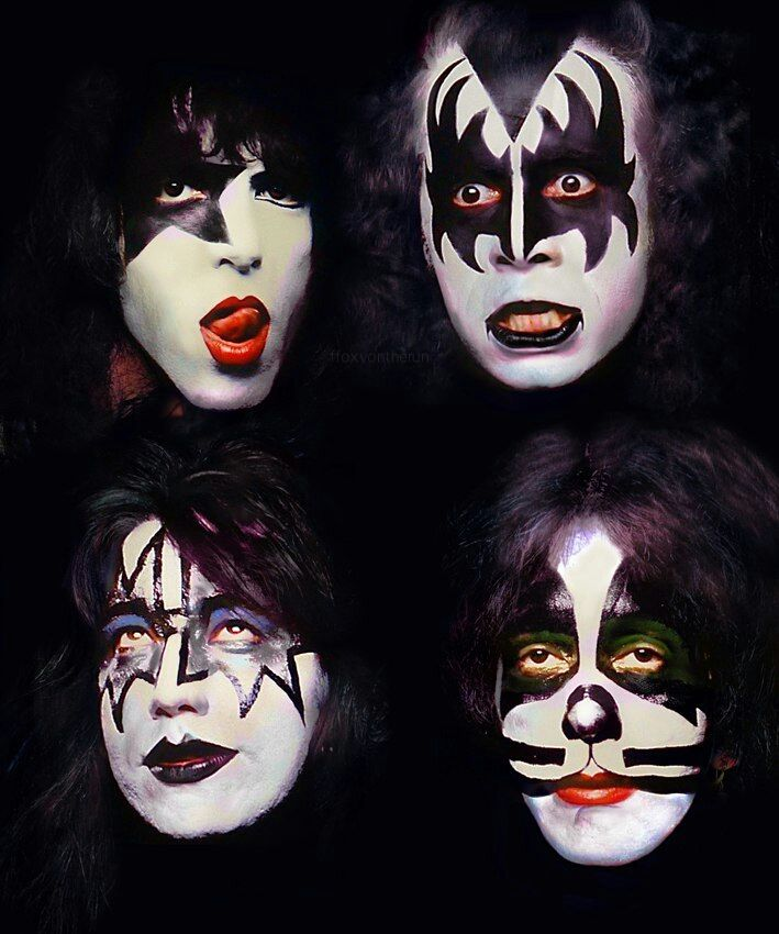 Kiss Band Members With Makeup: 1979. Photo By Francis Scavullo