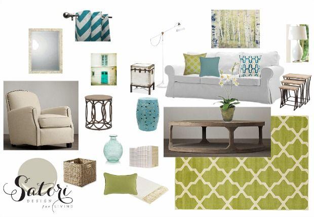 Green And Turquoise Living Room Decor Mood Board Satori Design For E