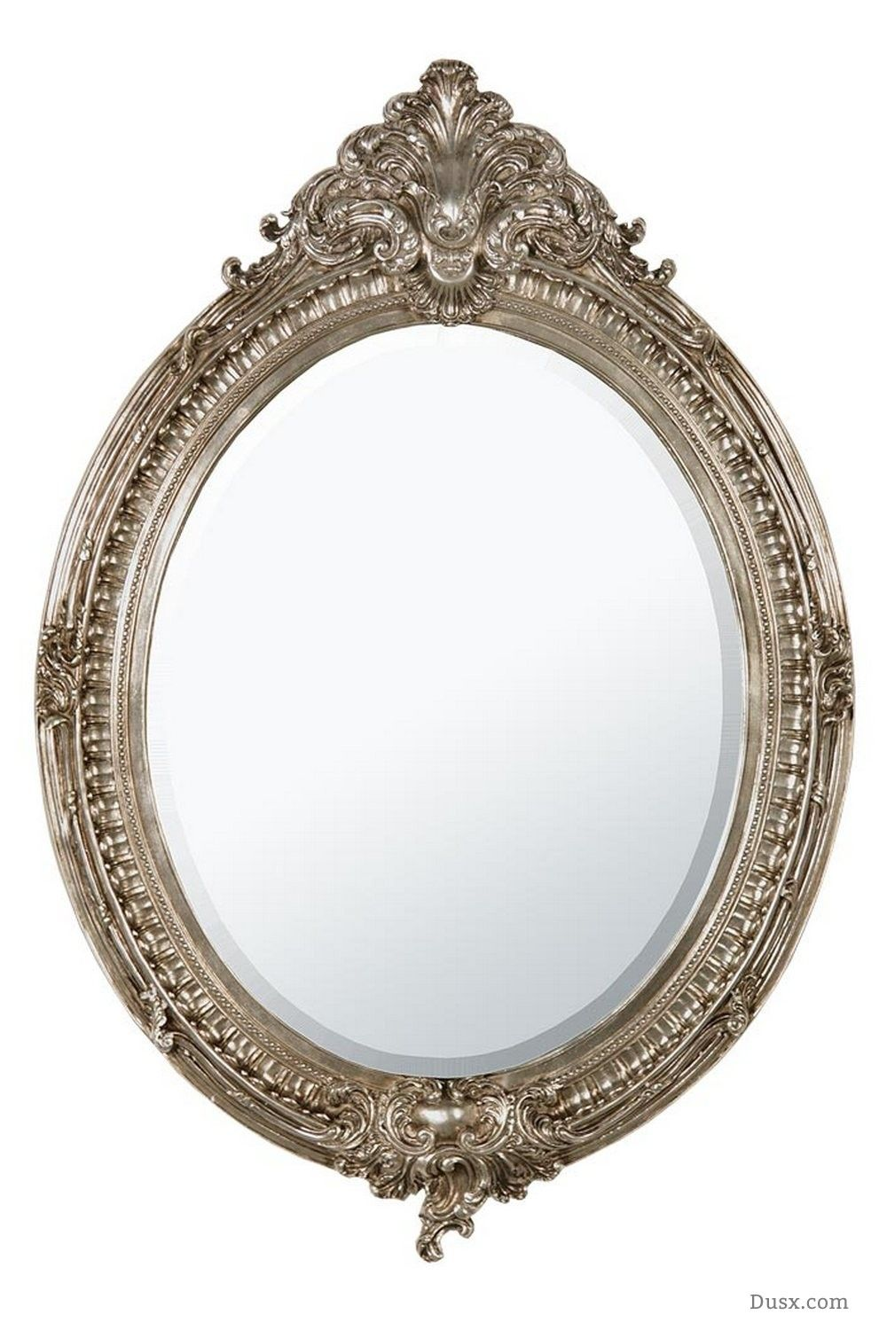 Dione French Rococo Silver Oval Bevelled Mirror : For sale at www ...