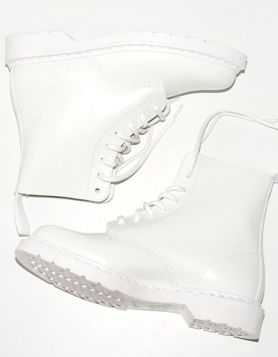 All White Combat Boots - Boot 2017