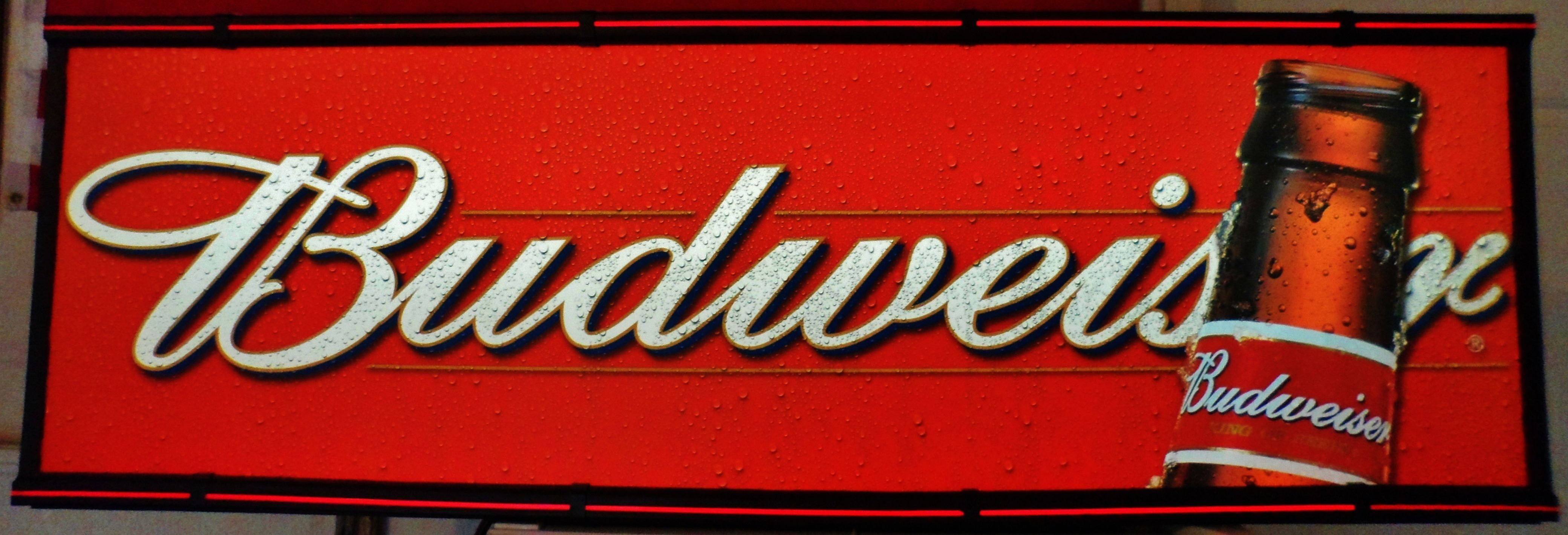 Vintage Budweiser Lighted Hanging Sign, circa 1990's