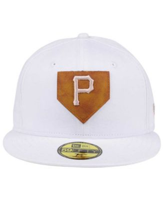 reputable site 307d9 23c85 New Era Pittsburgh Pirates The Logo of Leather 59FIFTY Cap - White 7