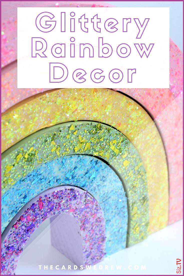 Cute DIY Rainbow Decor for your home kids bedroom birthday party or even for the classroom Painted