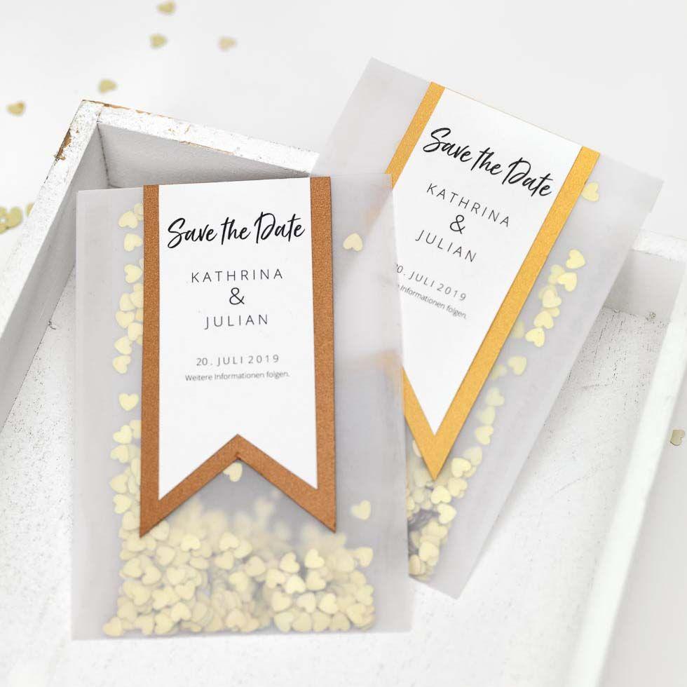 Diy Save The Date Karten Vorlage Konfetti Tute Karte Hochzeit Hochzeitseinladung Hochzeitskarten