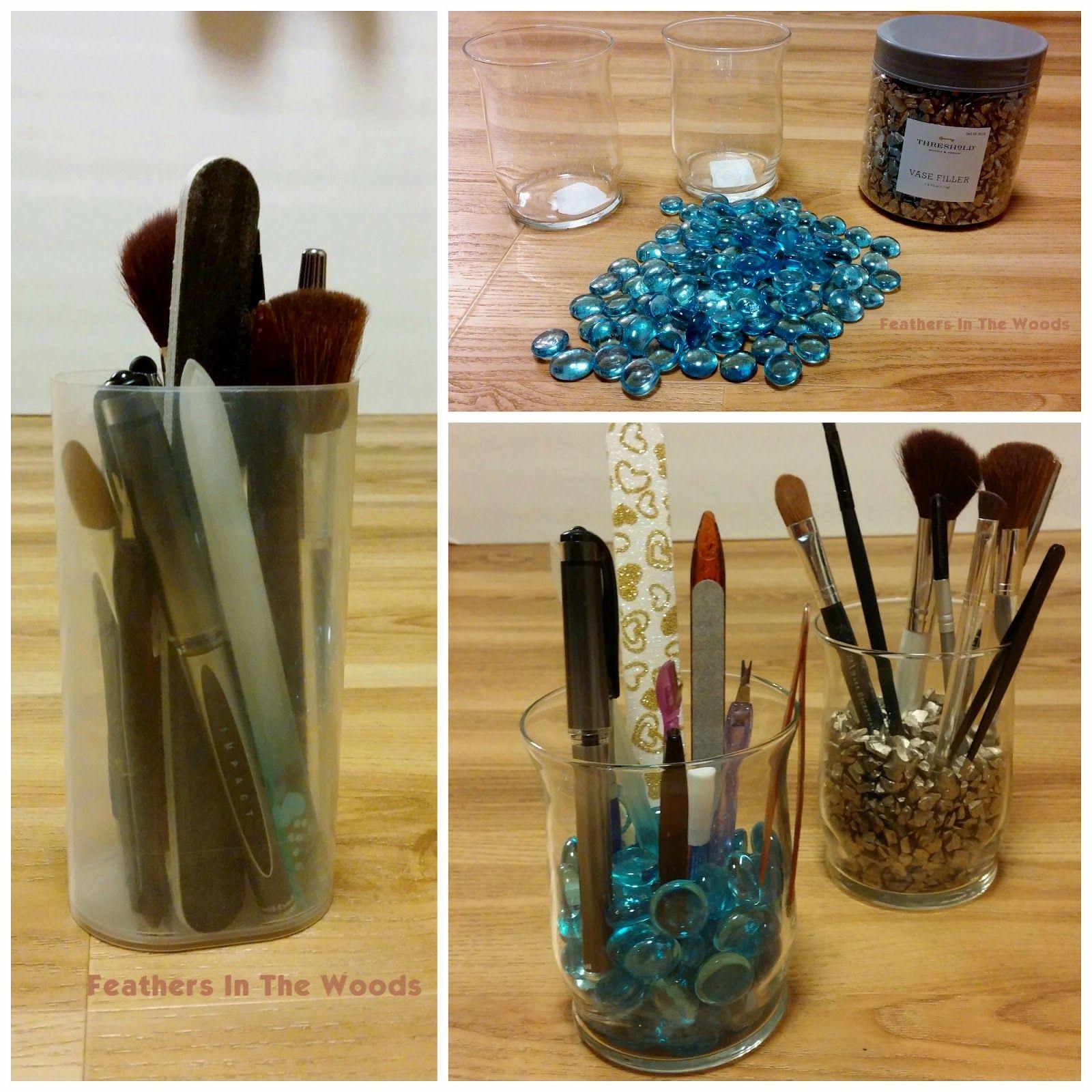 Cheap & Pretty Make up brush holders Makeup brush