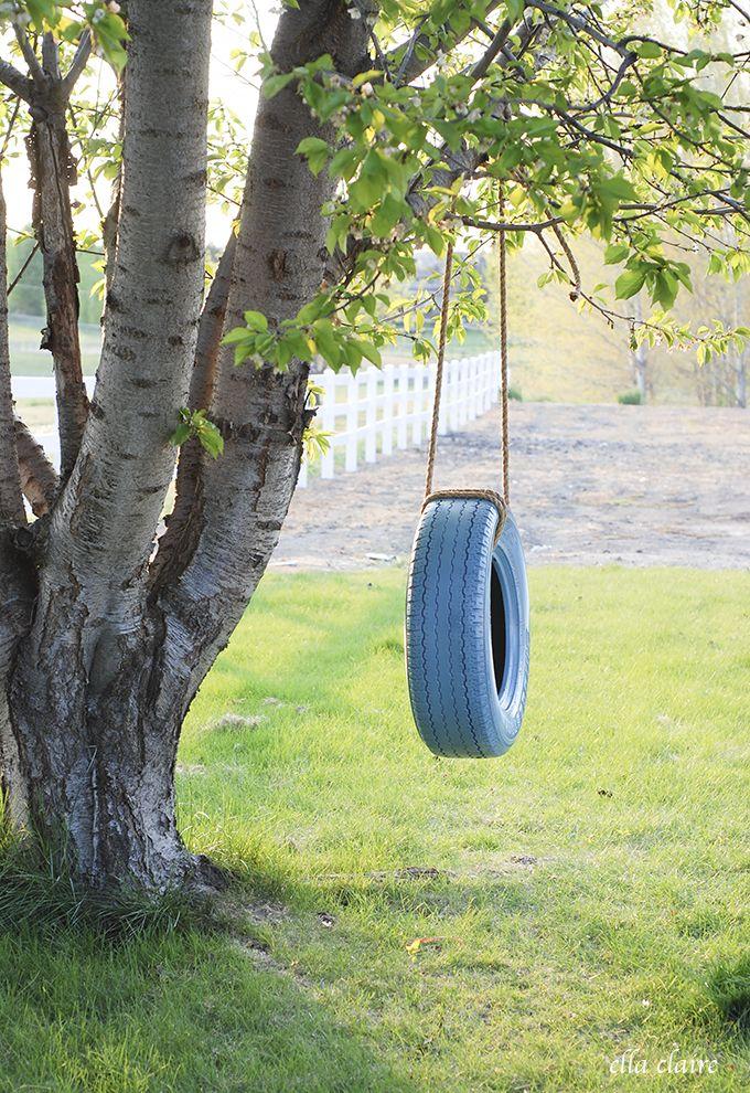 Easy DIY Tire Swing Ella Claire
