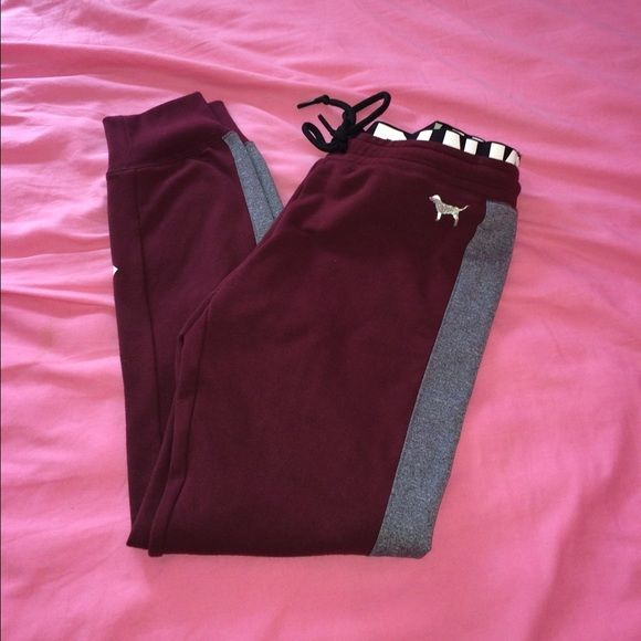 Victoria Secret's PINK jogger legging Worn once, not trading only selling. PINK Victoria's Secret Pants Track Pants & Joggers