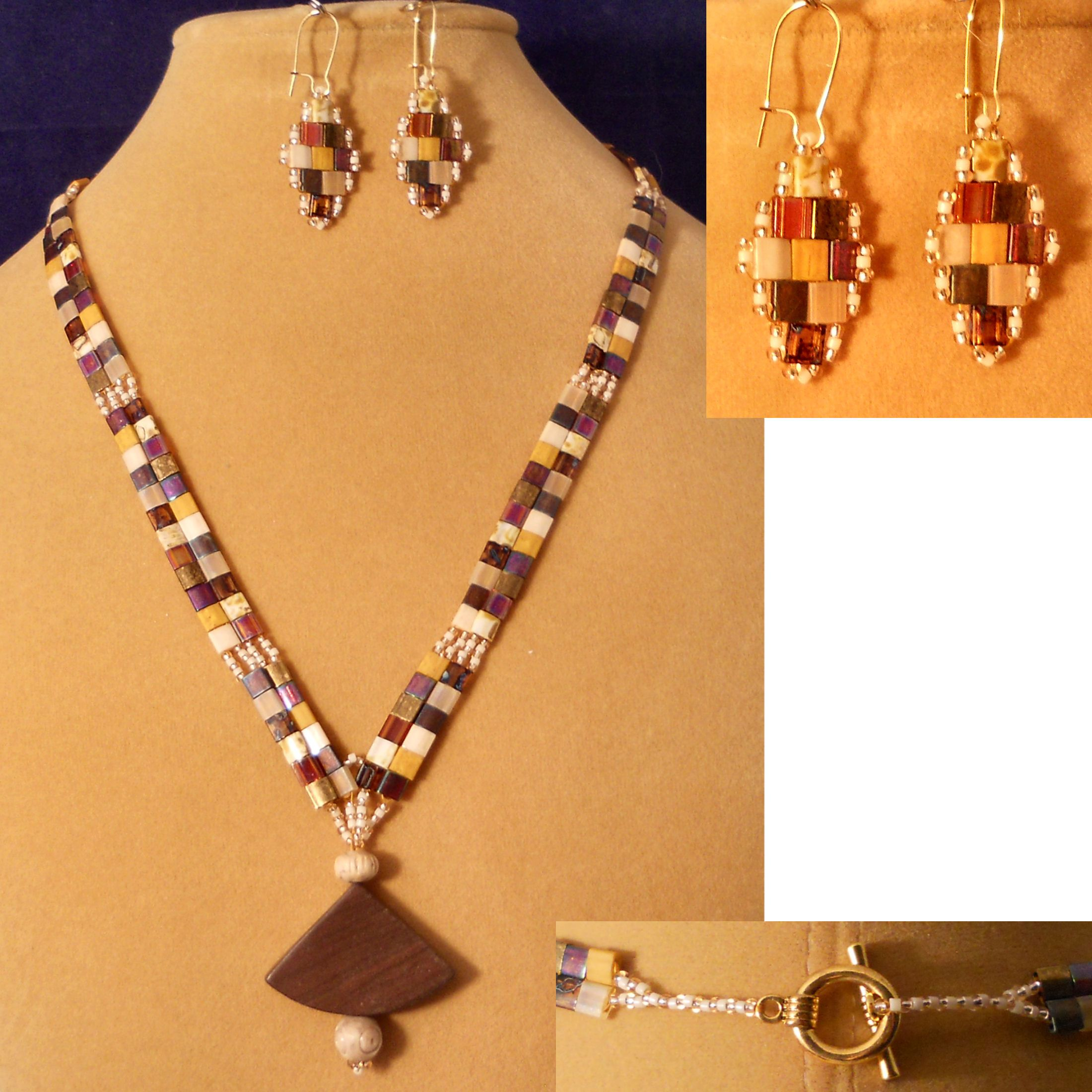 Jasper Drop Necklace and Earring Set - BW Designs - Jewelry for You