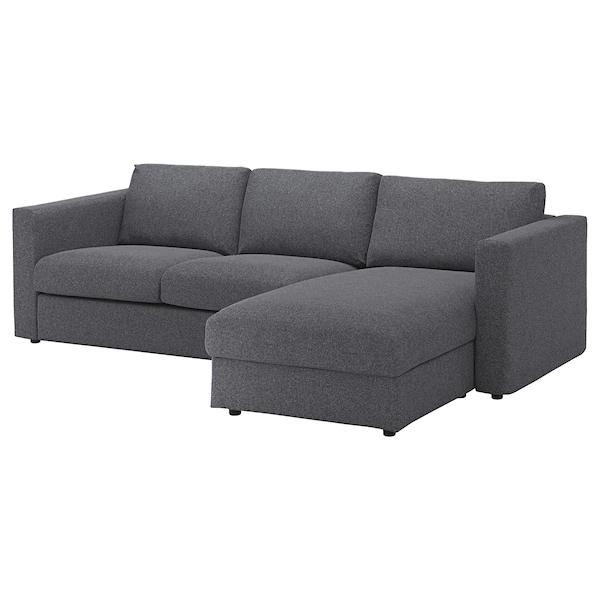 Vimle Trosjed Pocivaljka Gunnared Srednje Siva Ikea In 2020 Modular Sectional Sofa Ikea Vimle Sofa Ikea Sofa