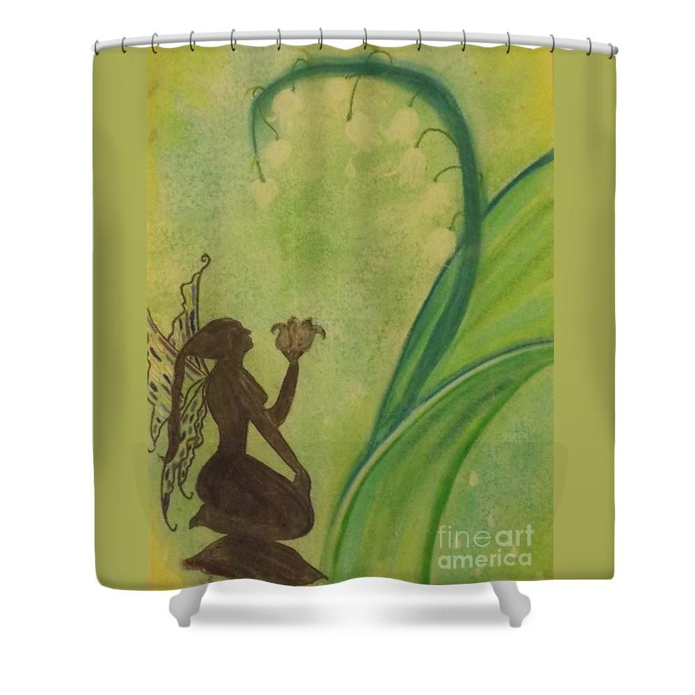 Lily Fairy Shower Curtain