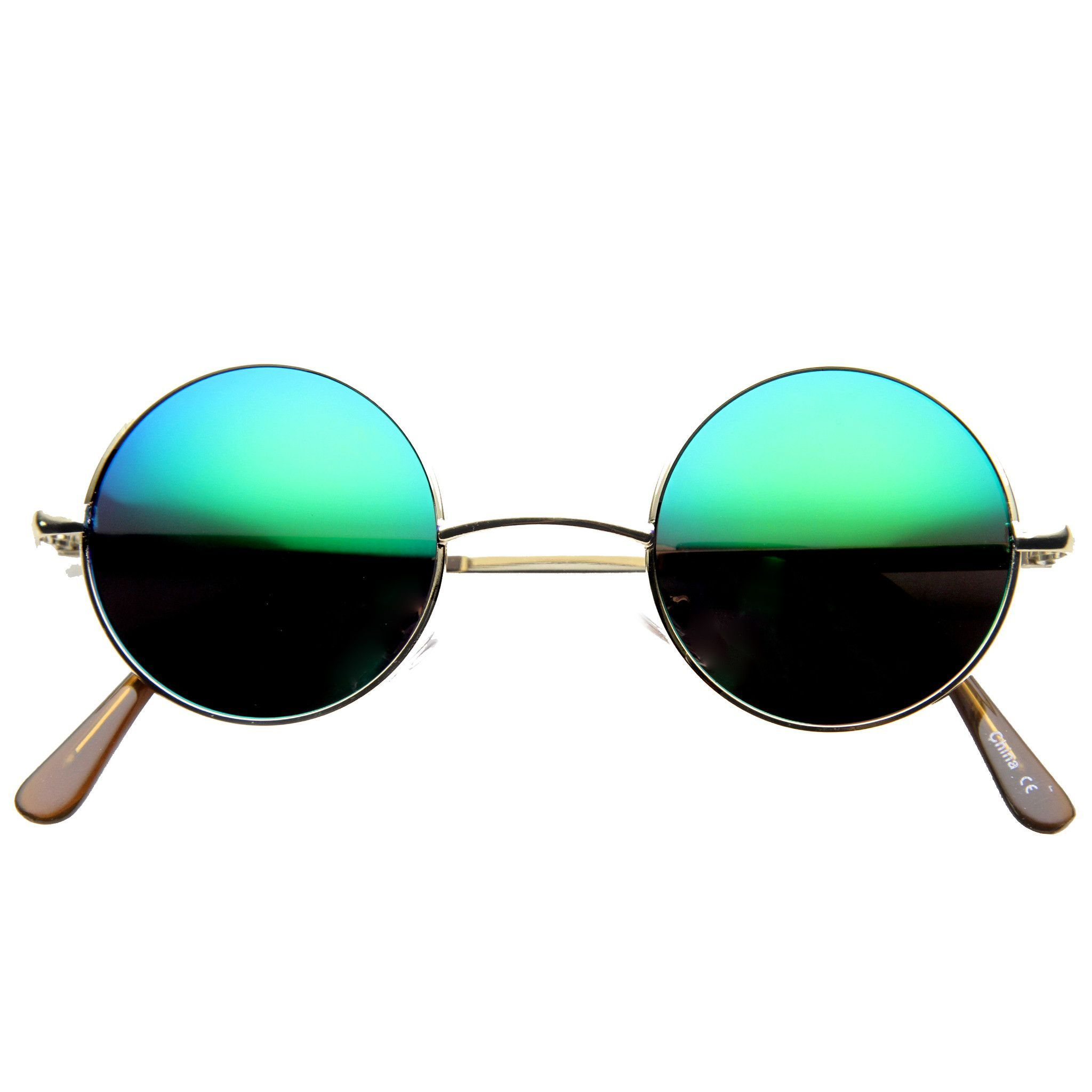 5d9db623cb Retro Lennon Style Round Circle Metal Mirror Lens Sunglasses 1408 ...