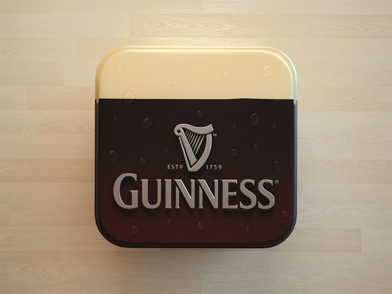 Though I can't say that the illustrator bent over backward to imitate reality here, it can be said that this is a clever way to sell Guinness. The portion representing the foam head gives this piece a nice sense of color balance.