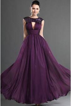 d58cfbf3135fb Vestido de fiesta Corte Recto Uva Manga tapada Elegante Blusa plisada