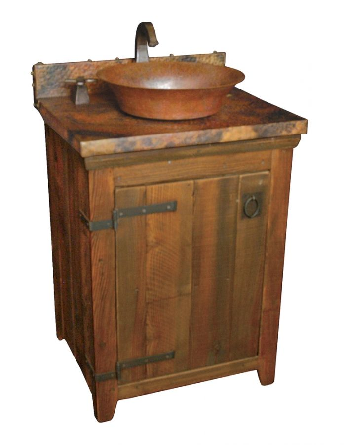 The Simple Design Of This Bathroom Vanity Has A Rustic Style That