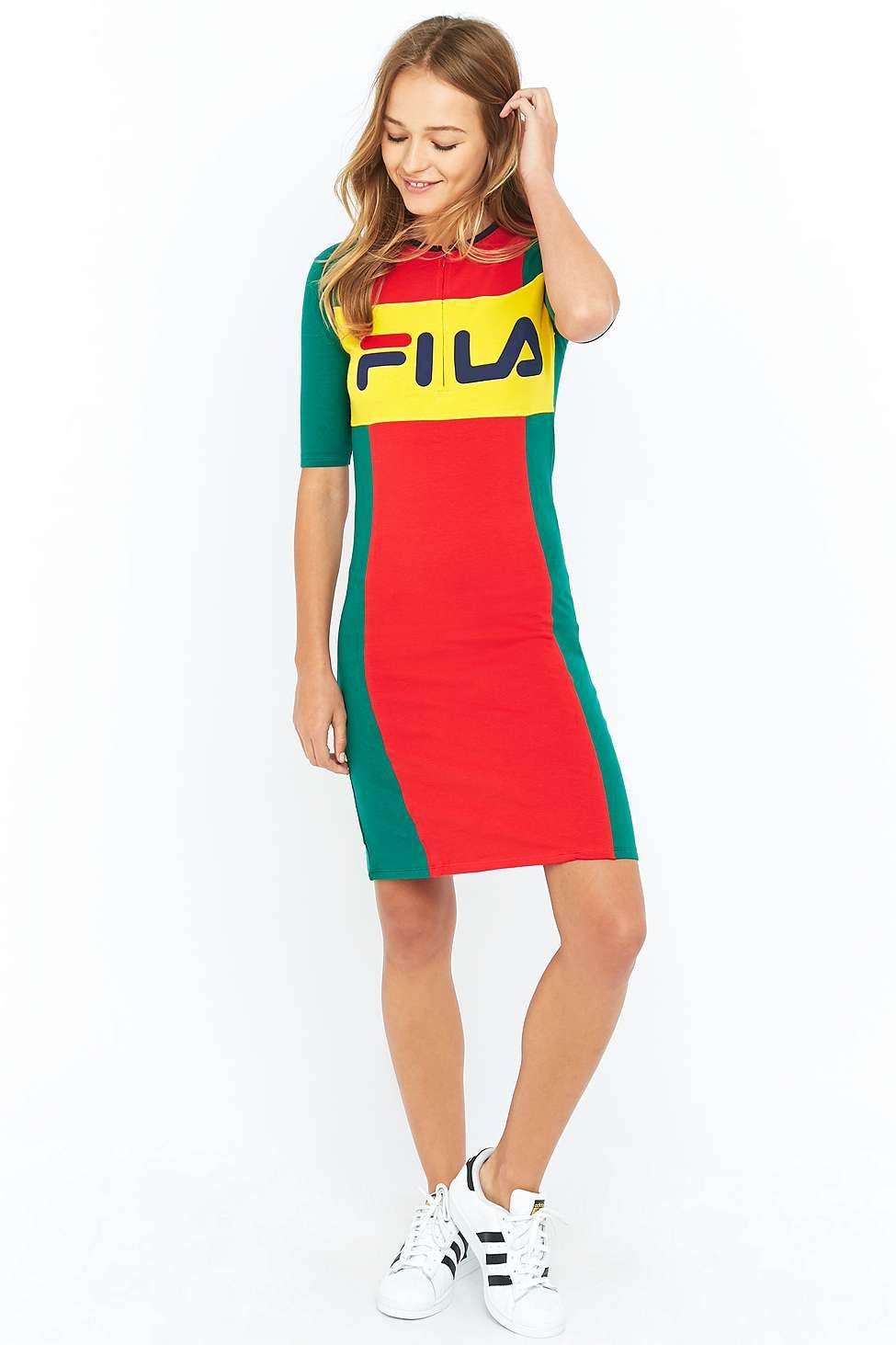 7d95a23b5d7c Fila - Robe moulante midi color block   Wishlist   Robe, Robe sexy ...
