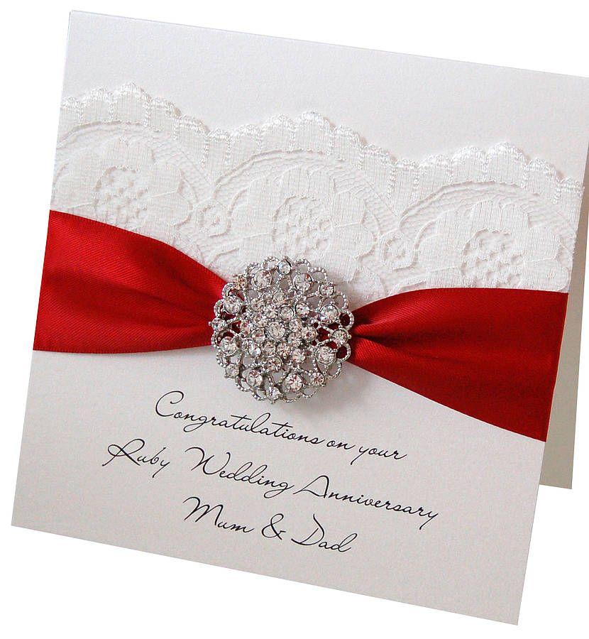 opulence wedding anniversary card anniversary ruby. Black Bedroom Furniture Sets. Home Design Ideas