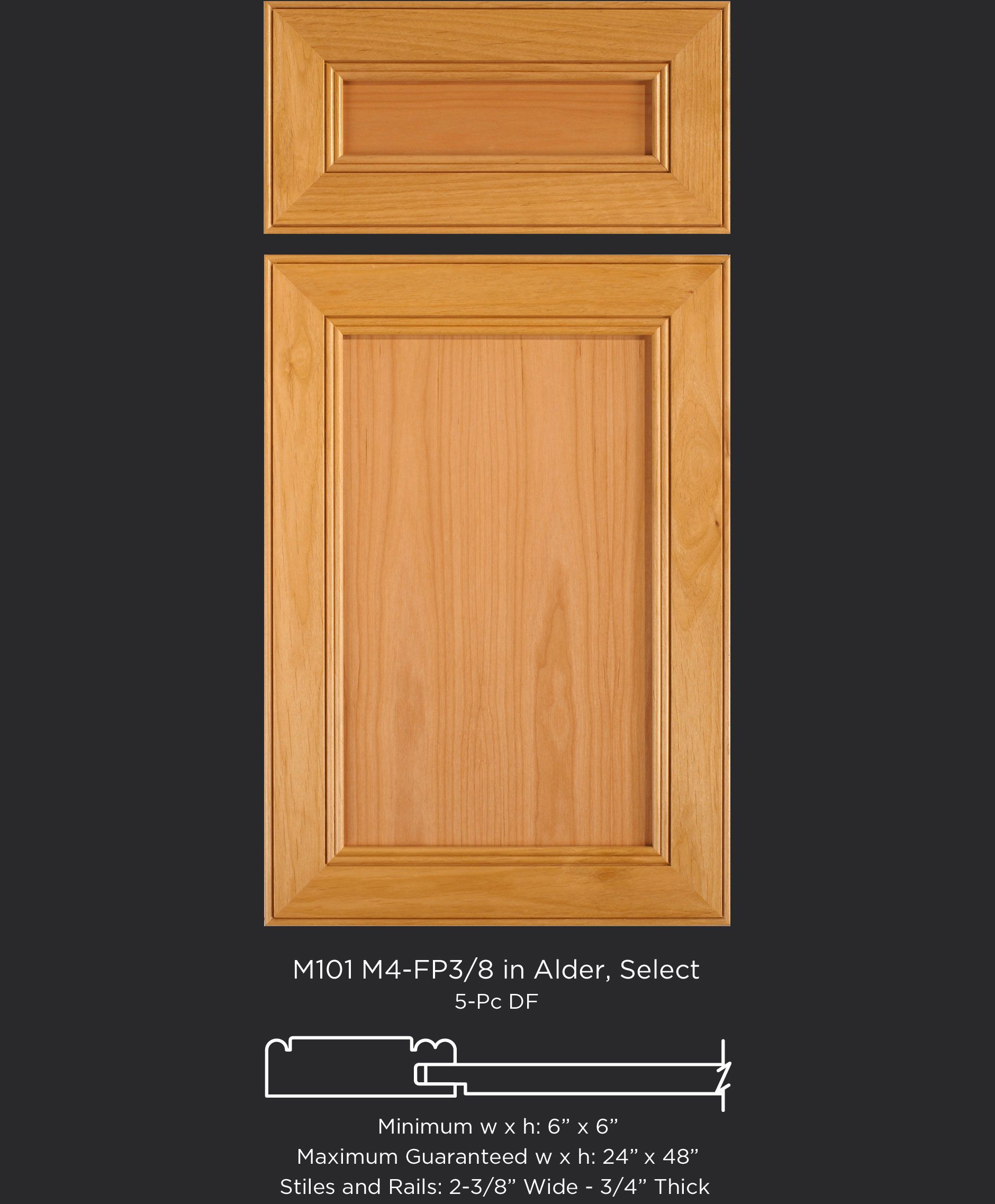 alder cabinet door with single bead on outside edge and double bead rh pinterest com