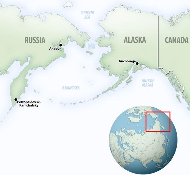 Us Map With Alaska And Russia - Free Usa Maps