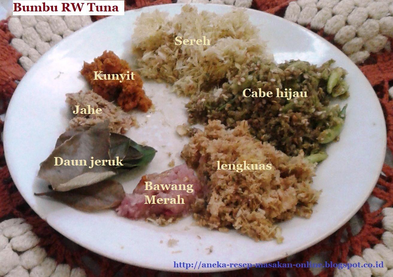 Resep Ikan Tuna Bumbu Rw Khas Manado Resep Ikan Resep Tuna Resep Masakan