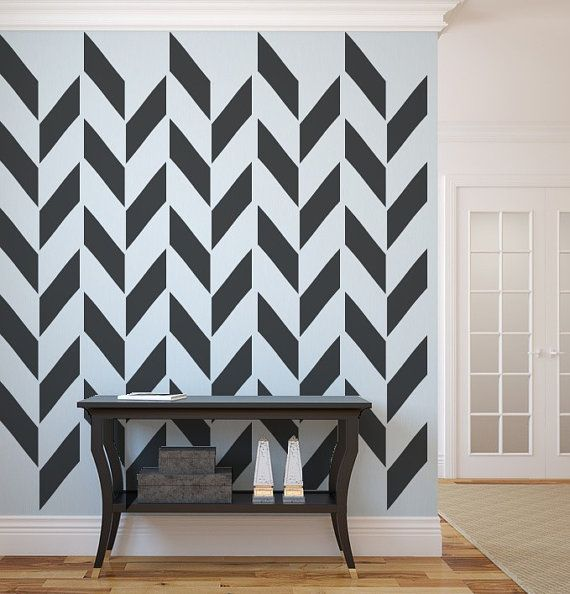 Herringbone Wall Decal, As Seen In Gray Magazine, Apartment ...