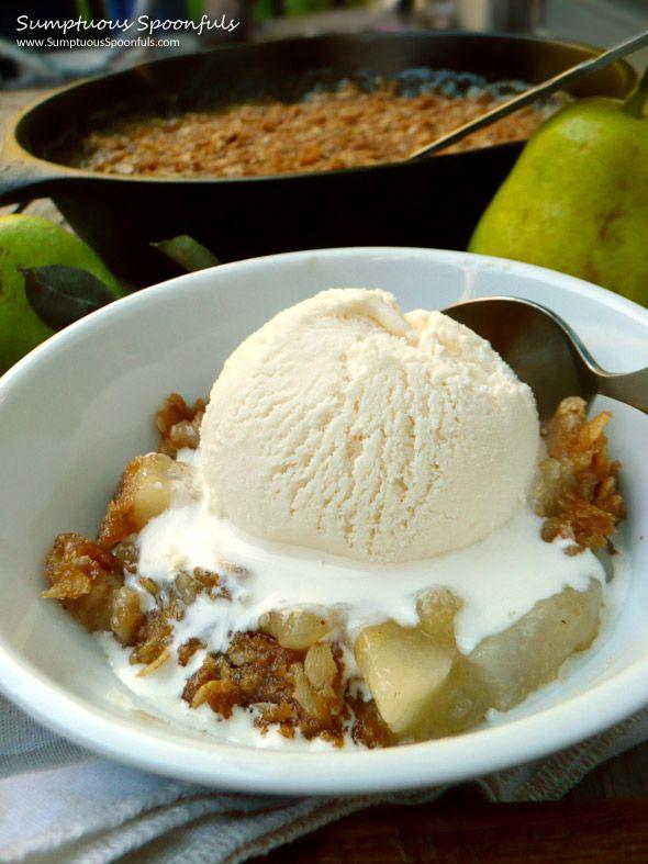 Lemon Cardamon Pear Crisp | Sumptuous Spoonfuls