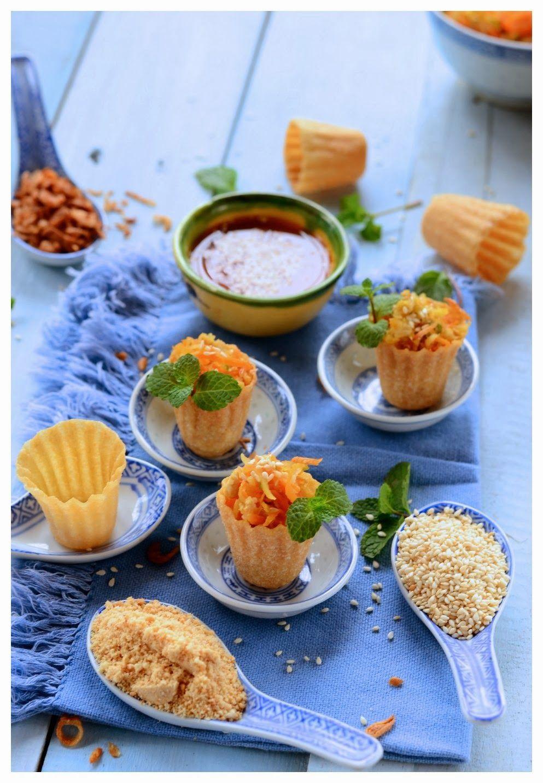 Indonesian Medan Food Selat Popiah / Pai Tie / Top Hat