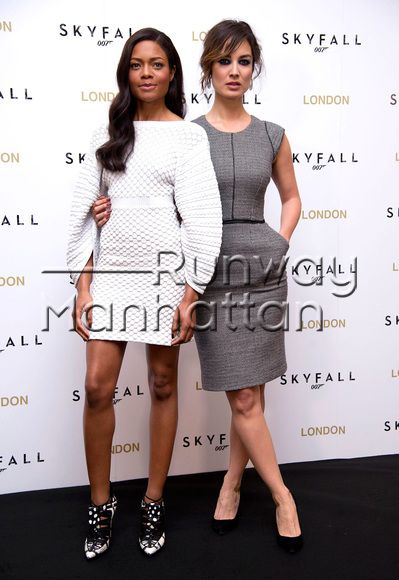 Naomie Harris and Berenice Marlohe at the SkyFall photocall at The Dorchester Hotel, London - Oct 22, 2012 - Photo: Runway Manhattan/Davidson/Goff Photos