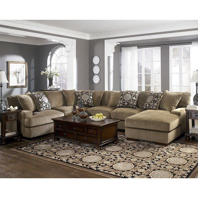 Grenada Mocha Large Sectional Living Room Set