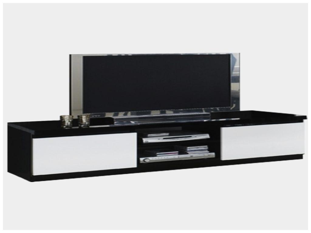 Inspirant Meuble Tv Noir Et Blanc Laque Minimalis