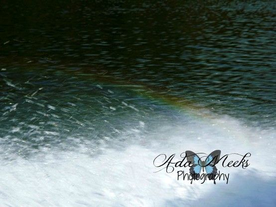Rainbow made in the water while on the Jet Boat in the New River in WV