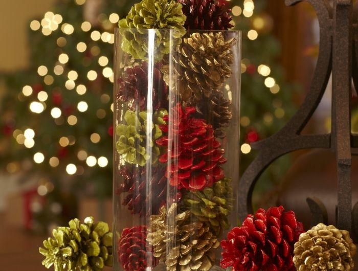 decoration vase en verre noel. Black Bedroom Furniture Sets. Home Design Ideas