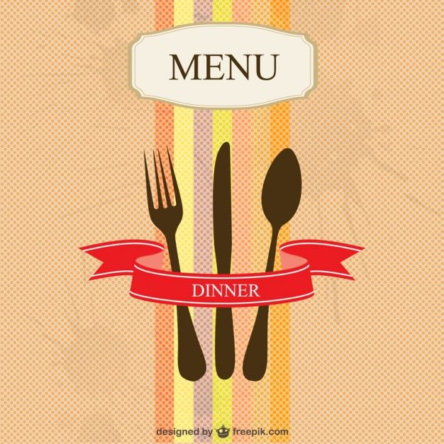 Restaurant menu vector simple design | Illustrations | Pinterest