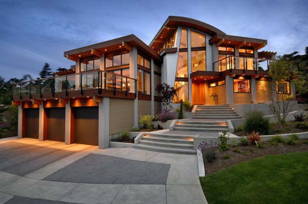 Beautiful homes photo gallery   Luxury Wooden Dream House with   beautiful homes photo gallery   Luxury Wooden Dream House with modern design  and glass combination. Designer Luxury Homes. Home Design Ideas