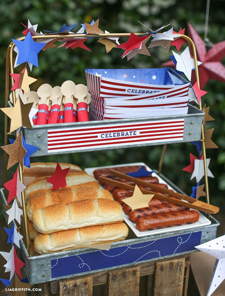 Hot Dog Bar for 4th of July - Lia Griffith