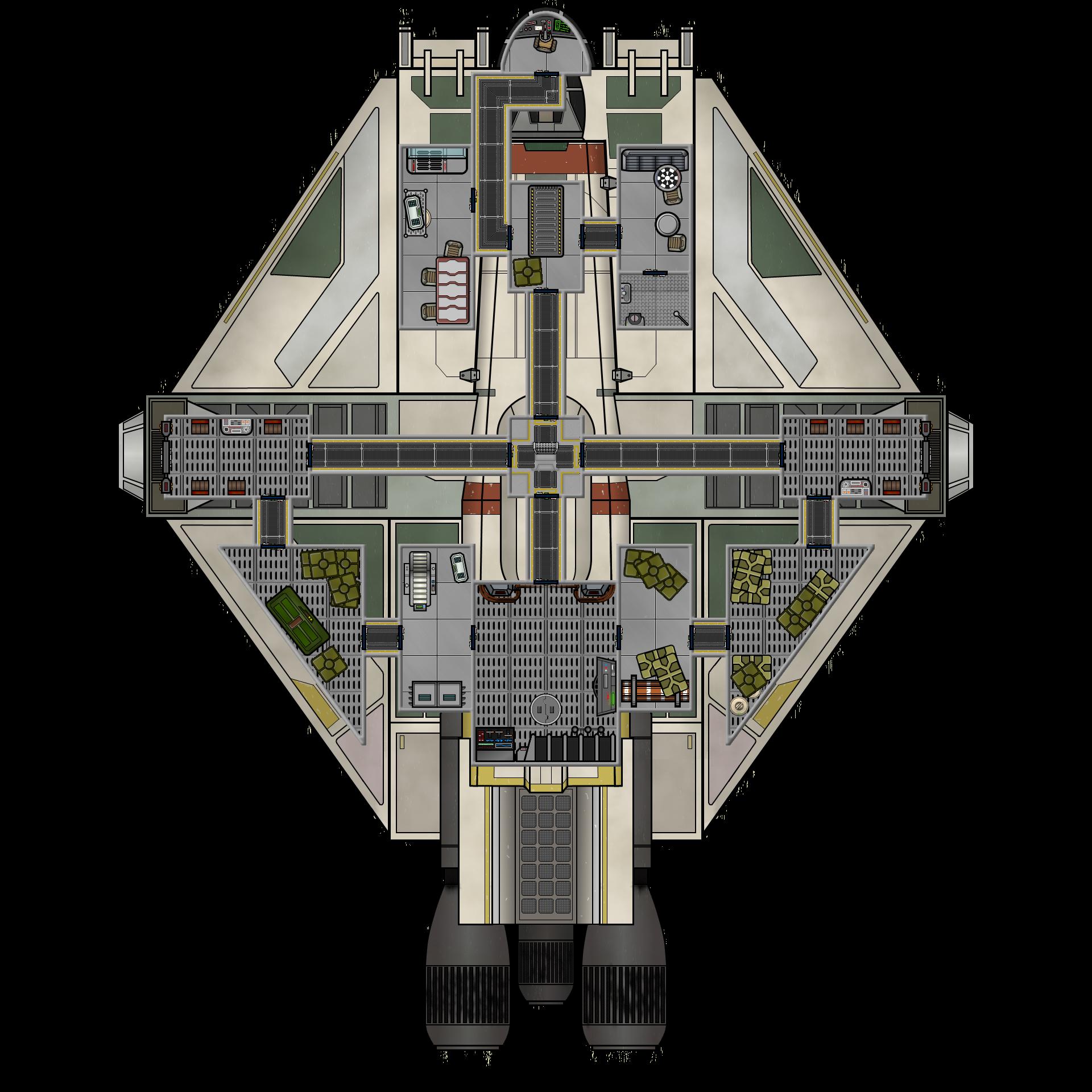 VCX-100 Light Freighter  (Deck Plan)