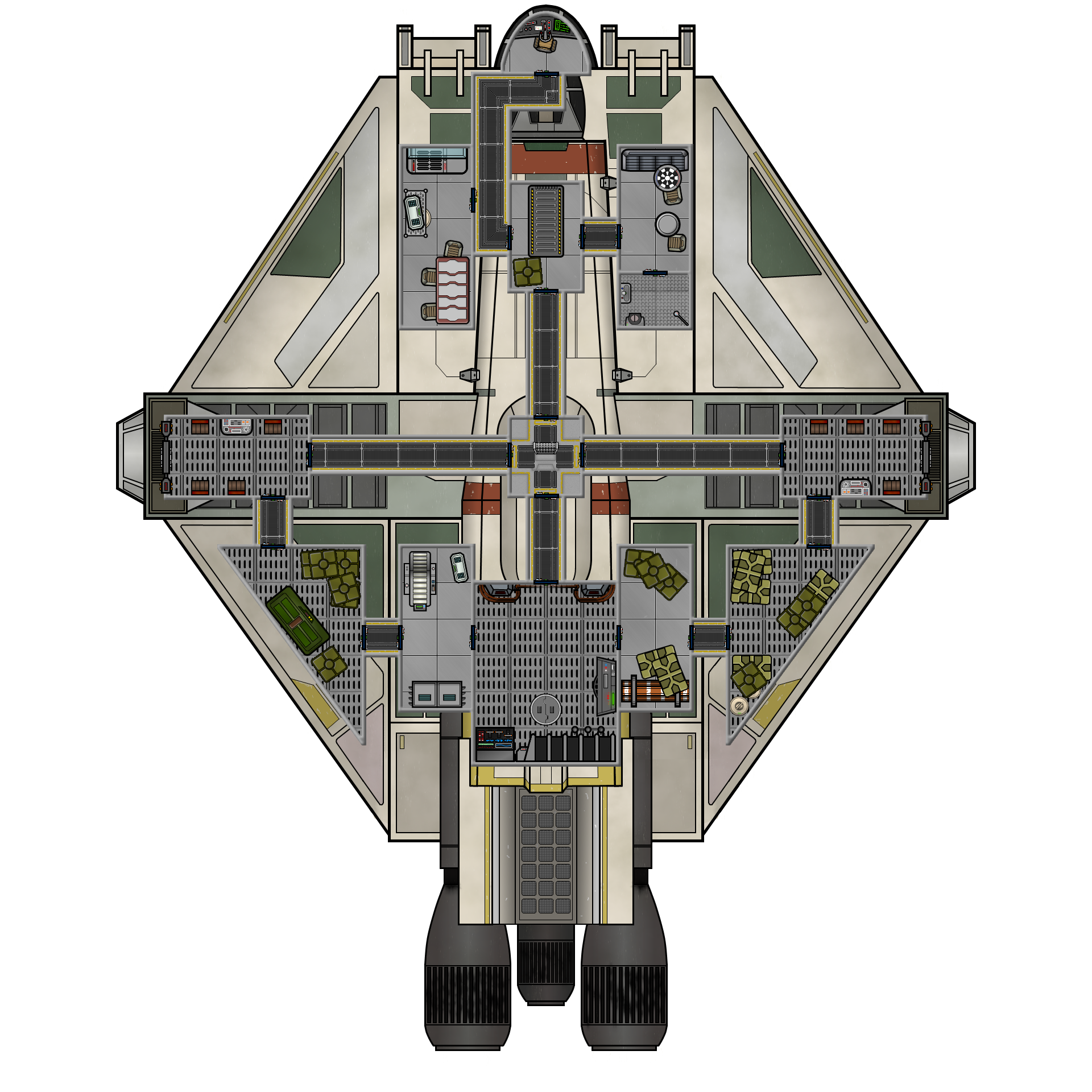 Vcx 100 Light Freighter Deck Plan Spaceships Star Wars Ships