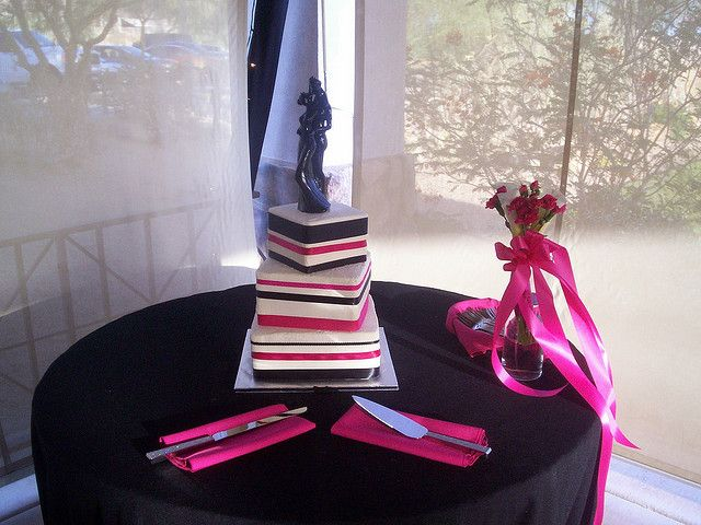 Black and Pink ribbon by christiescakery, via Flickr