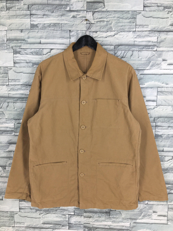 size Large L Vintage Workwear Shirt.80s Mens Workwear Utility Shirt  Button Down Shirt   Menswear Outerwear