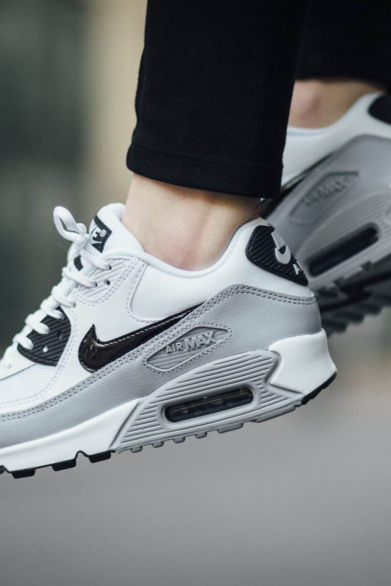 nike shoes air max 90 black. white × grey nike wmns air max 90 essential nike shoes black