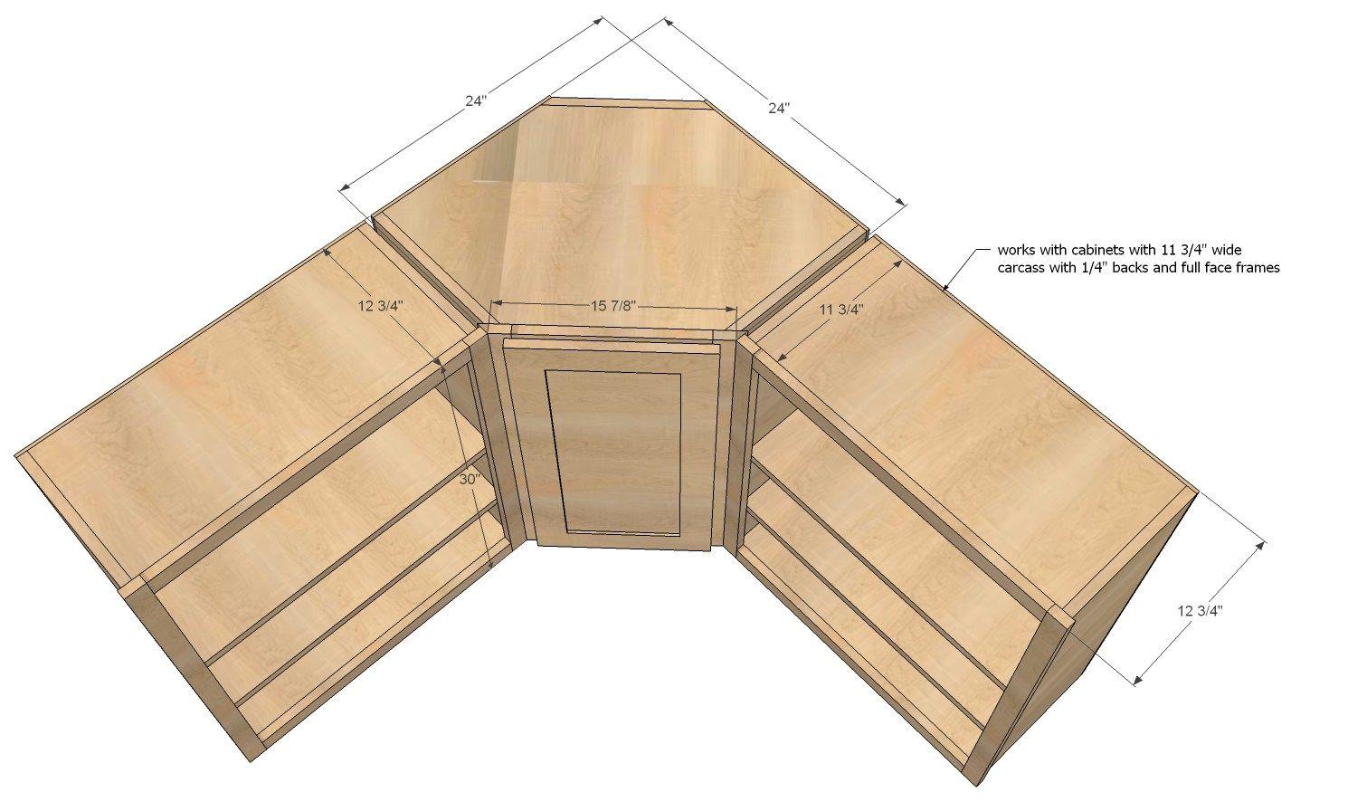 ana white build wall kitchen corner cabinet easy diy ...