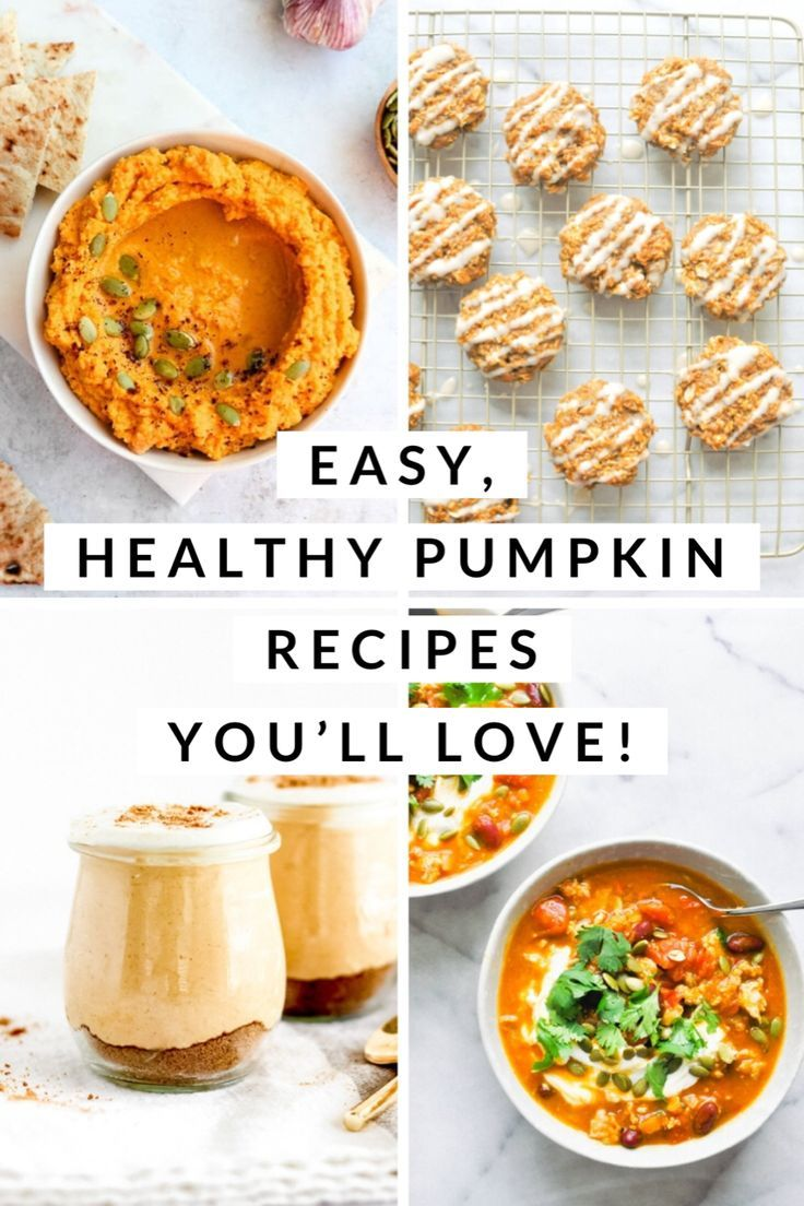 Easy Healthy Pumpkin Recipes You'll Love! images