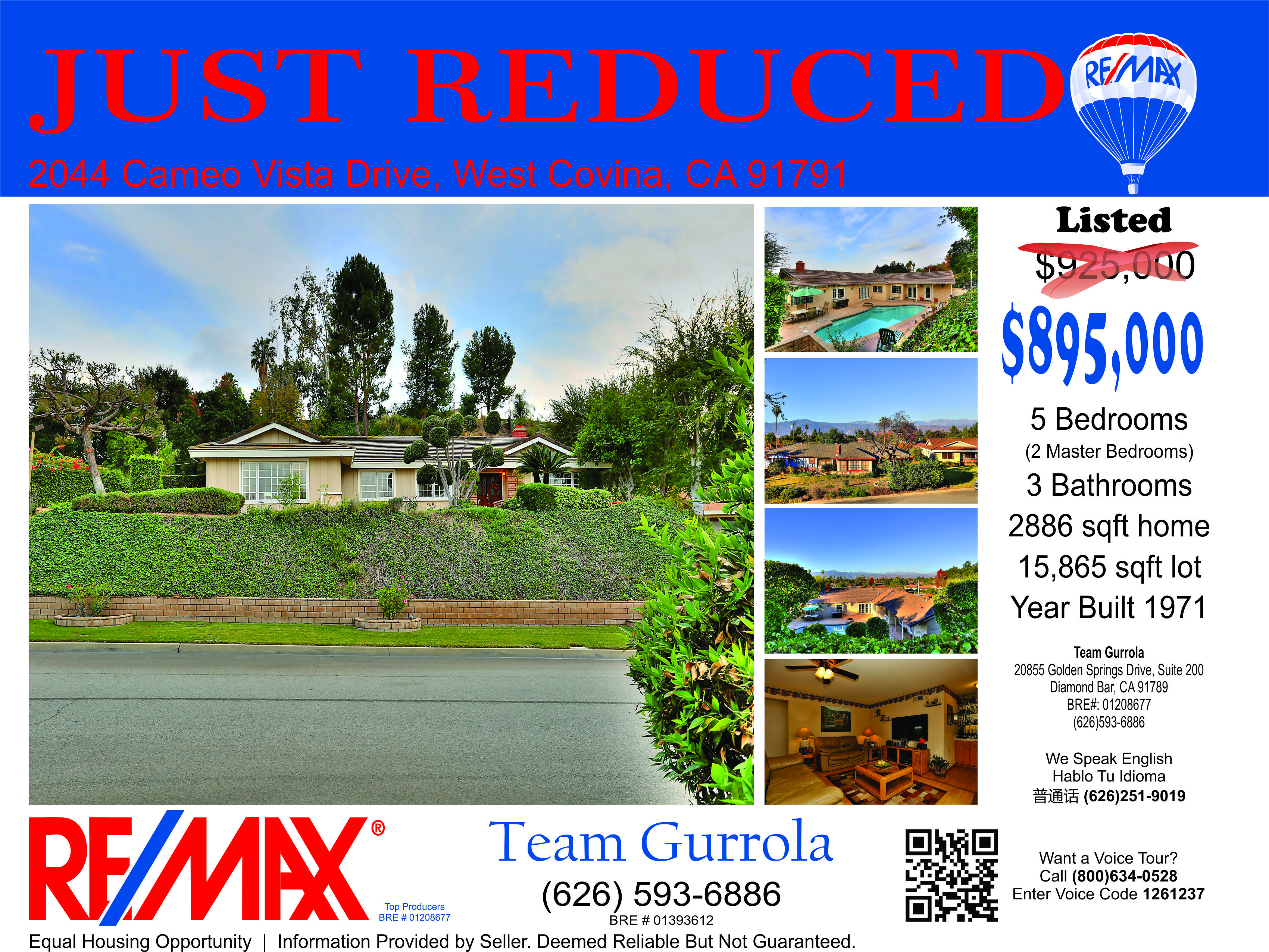 Just reduced just listed flyer real estate