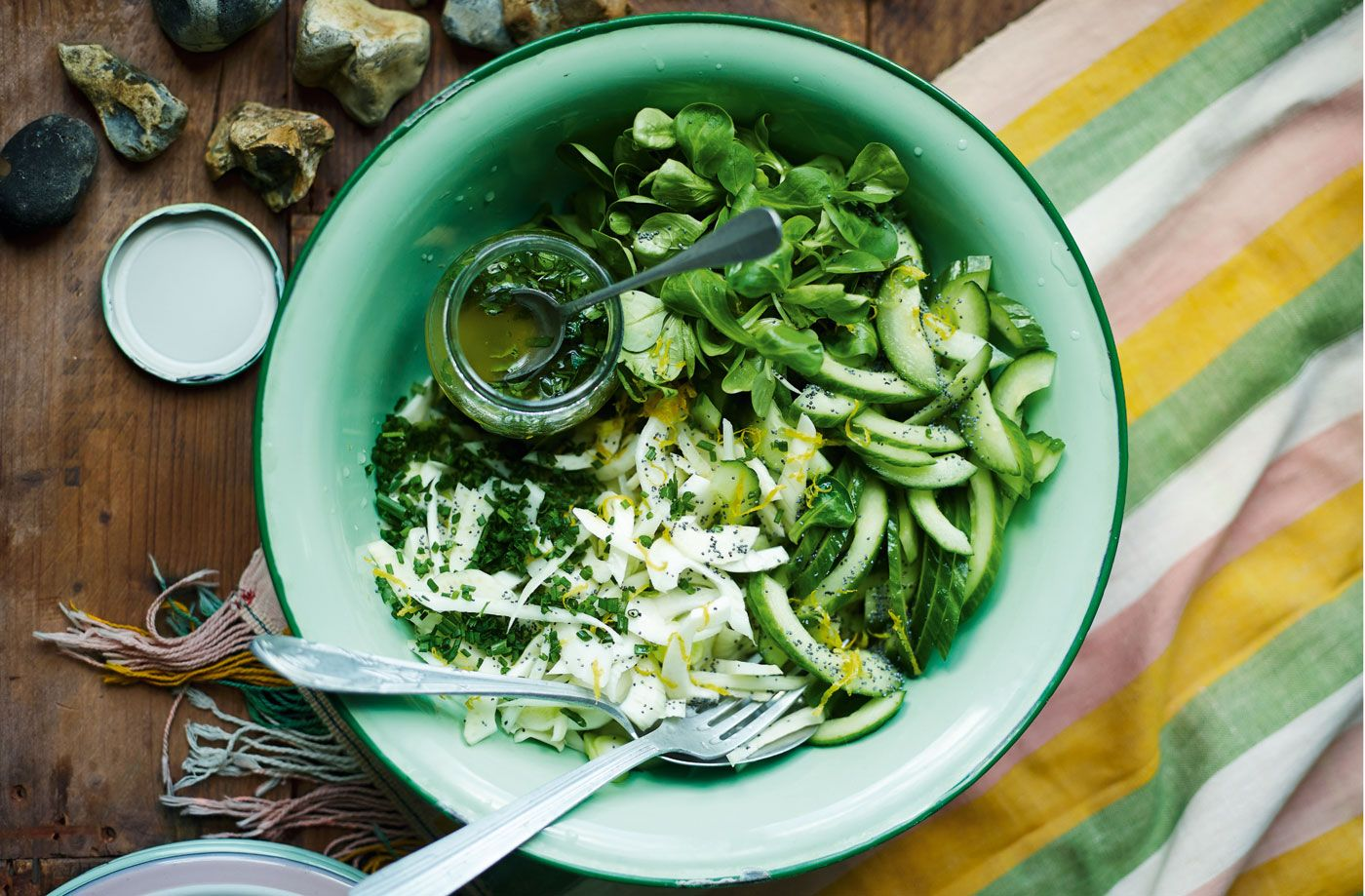 This fresh green salad of cucumber, fennel & parsley makes the perfect BBQ side. Discover more inspirational salad recipes & BBQ sides…