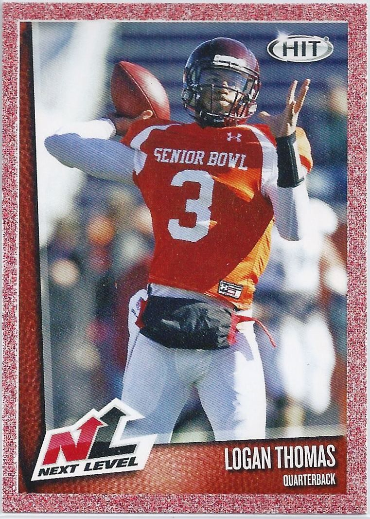 Logan Thomas Rookie Arizona Cardinals 2014 Sage Hit Next Level Red Parallel Card 55 Arizona Cardinals Football Cardinals Football Football Trading Cards