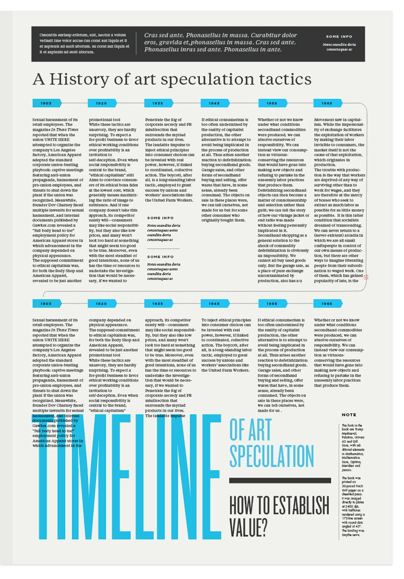 12 Column Grid Newspaper Layout {love the overlapping