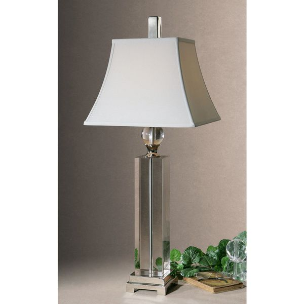 Perfect House · Uttermost Sapinero Polished Nickel Metal/ Crystal Table Lamp ...