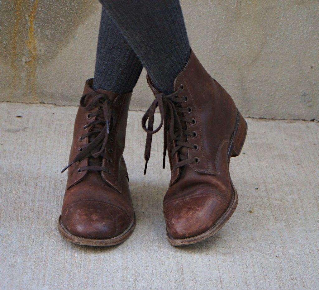 bc0e610a8e3e the right kind of lace up boots!   My Style   Pinterest   Shoes ...